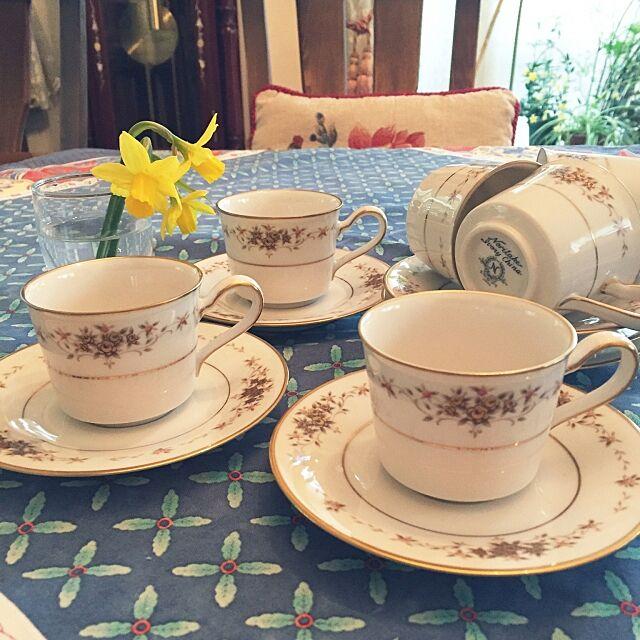 Kitchen,ふるいもの,カップ&ソーサー,昭和レトロ,ノリタケ♡,花のある暮らし momoの部屋