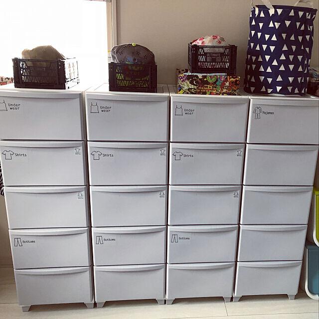 Overview,キャンドゥ,セリア,子供服収納,100均,ホワイトグレー,ニトリ,ダイソー yuの部屋
