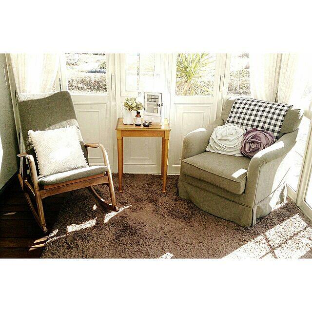 Lounge,ロッキングチェア,一人掛けソファ,サンルーム asasaの部屋
