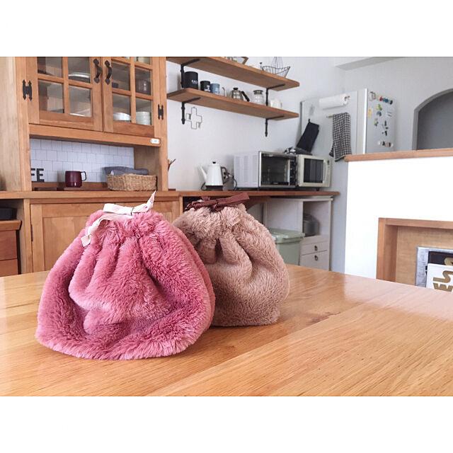 ファー巾着,ダイソー新商品,ダイソー,インスタやってます!,kamuhome,Instagramやってます,マイホーム,My Desk amu11の部屋