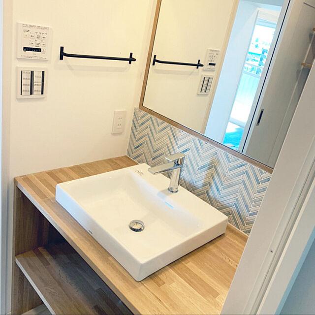 フルリノベーション中古マンション,中古マンションリノベーション,西海岸スタイル,西海岸風,リノベーション,Bathroom nonの部屋