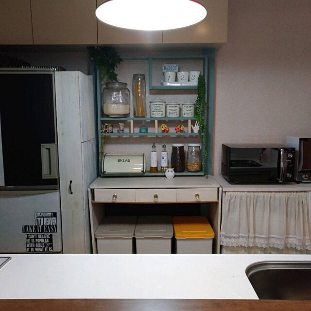Kitchen,キッチンDIY,コメントお気遣いなく♡,2019年,フォロワーさんに愛❤︎感謝,6月10日,いいね!ありがとうございます◡̈♥︎,イベント参加,フォローお気軽にしてください♡,ラブリコ,フクロウの置物,サリュ!キャニスター Samの部屋
