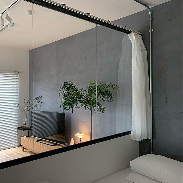モニター応募投稿,室内窓,グリーンのある暮らし,ボトルツリー,Bedroom,ルイスポールセン PH4/3 stcm.homeの部屋