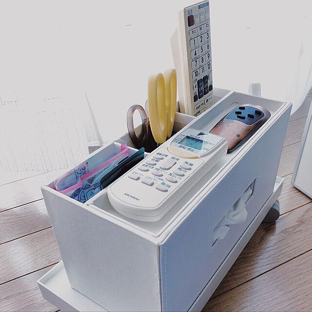リモコン収納付きティッシュケース,ニトリ,名もなき家事,スッキリ暮らす,賃貸,置きっぱなし対策,3LDK,賃貸マンション,整理整頓,カメラマーク消し,My Desk niko3の部屋