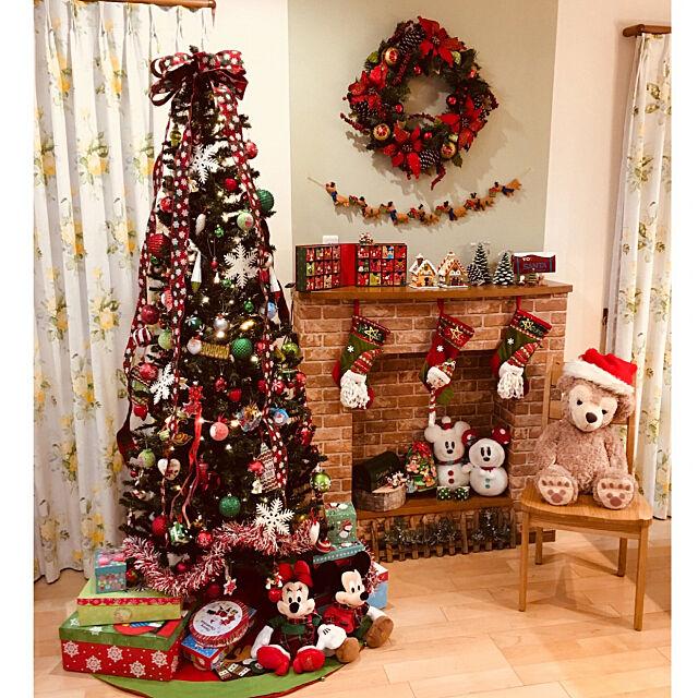 Overview,ミッキーミニー,クリスマス小物たち,クリスマスリース,マントルピース風飾り棚,カントリー,クリスマスツリー,クリスマス,シェリーメイちゃん♡,ニトリ koronの部屋
