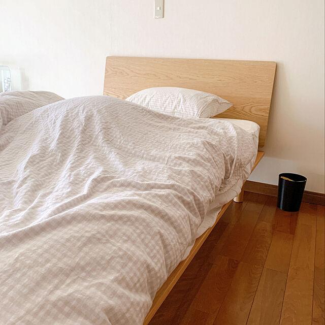 一人暮らし,ナチュラル,無印良品,Bedroom nkの部屋