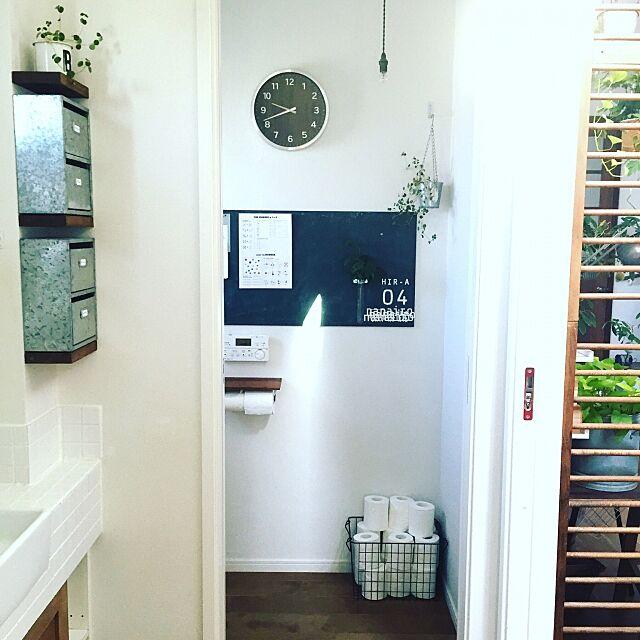 Bathroom,学校風,黒板,カフェ風,インダストリアル,グリーンインテリア,塩系インテリア,DIY ai-nanairoの部屋