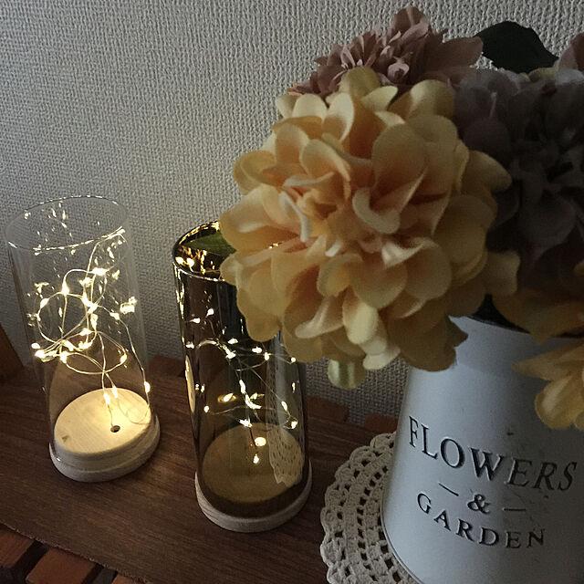 レースの敷物,LEDガラスライト,Daiso,皆さんに感謝です(*˙˘˙*)ஐ,見て頂きありがとうございます⑅︎◡̈︎*,無言いいね&フォローすいません(〃ω〃),造花,seria,フェイクフラワー,おうち時間,salut!,Lounge flowerの部屋