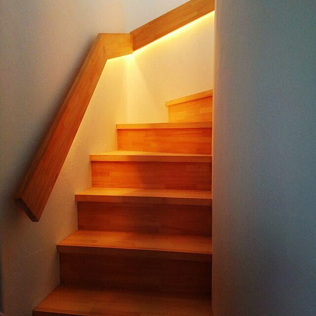 On Walls,ベストショット,漆喰壁,シンプル,こどもと暮らす,間接照明,コラボハウス,一軒家 kazuyosi35nの部屋