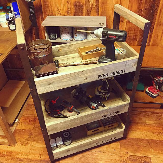My Shelf,ツールワゴン,ツールスタンド,DIY,アンティーク,工具箱,男前,ブルックリンスタイル otoの部屋