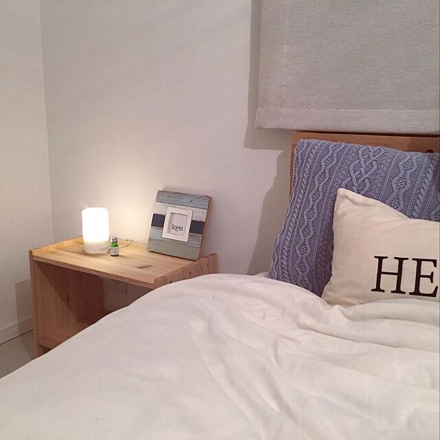 Bedroom,アロマ,アロマディフューザー,IKEA,ベッドルーム,シンプルな暮らし,シンプル,シンプルライフ,ZERO-CUBE,ゼロキューブ+BOX,ゼロキューブ,家具,ニトリ,インスタやってます,インスタ→mady.0214,無印良品 mの部屋