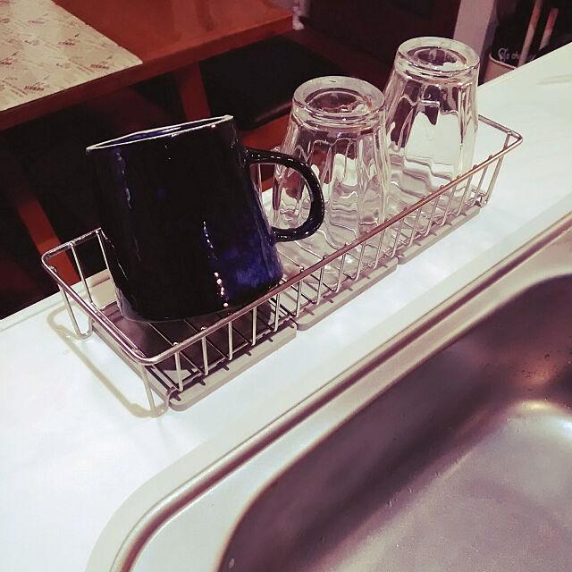 Kitchen,無印良品,コップ置き場,ニトリ,珪藻土コースター,とりあえず使ってみる akatomoの部屋