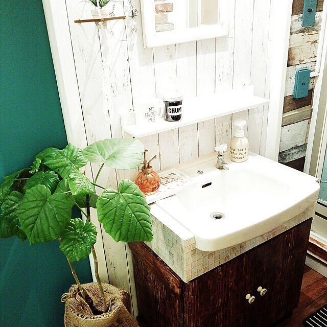 Bathroom,ウンベラータ♡,リメイクシート,団地,洗面所 soraの部屋
