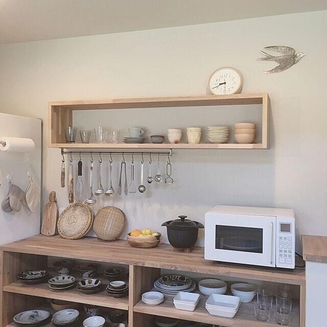 Kitchen,TEEMA,ittala,野田琺瑯,SCOPE,ざる,小鳥,オープン収納,キッチン背面,キッチン収納,フォローお気軽にしてください♡,新築一戸建て,自然素材の家,珪藻土の壁,白が好き,シンプル,シンプルライフ,シンプルな暮らし,クウネルが 好きだった,引越したばかり,注文住宅,無印良品,小鳥の雑貨,鳥部♡,見せる収納,作家もの,オープン棚 kanata_の部屋