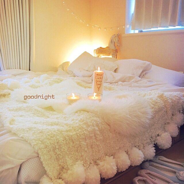 Bedroom,IKEA,ホワイトナチュラル,ホワイトインテリア,ふわもこ,DIY,北欧,カフェ風,照明,3Coins,ナチュラル,模様替え,アンティーク,ハンドメイド poshboxの部屋