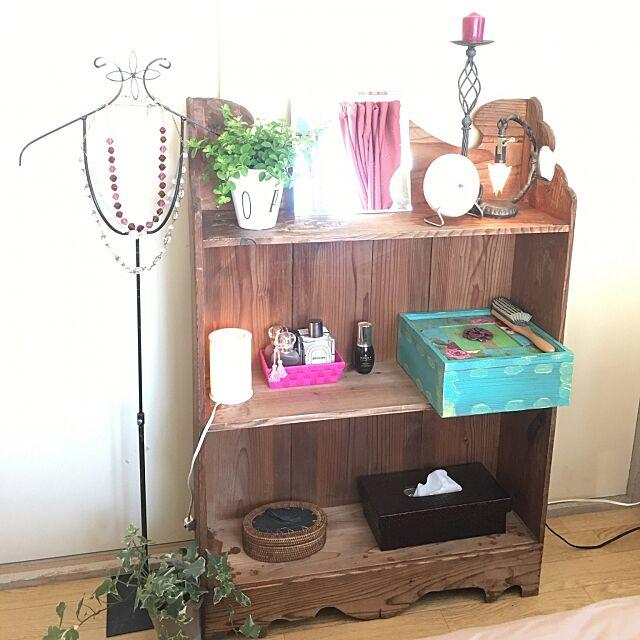 メイクスペース,時計,鏡,香水,メイクボックス,アジアン雑貨,アイアン雑貨,アンティーク,観葉植物,Bedroom,シェルフ miraiの部屋