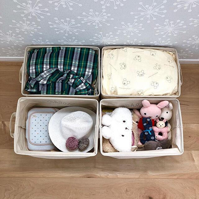 My Shelf,衣替え,子供服収納,こどもと暮らす,収納,ダイソー,クローゼット,カラーボックス usaco.の部屋