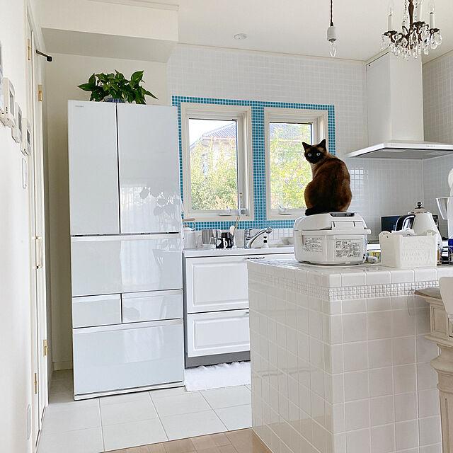 フレンチインテリア,ホワイトインテリア,猫,LDK,マイホーム,Kitchen nicoの部屋