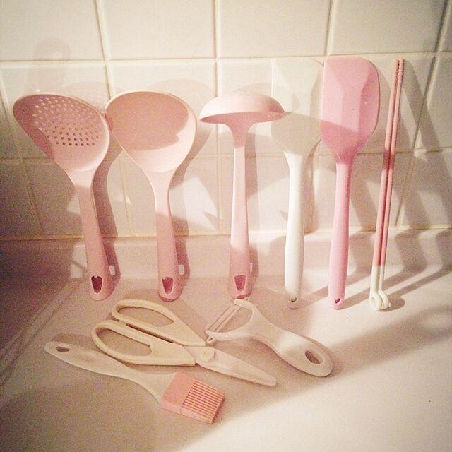Kitchen,キッチンツール,ピンク,ホワイトインテリア,こだわり ROCCOの部屋