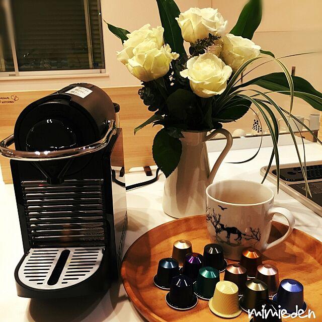 Lounge,DAISOマグカップ,花のある暮らし,入居後,引っ越しました♡,珈琲のあるあたたかい暮らし mimiedenの部屋