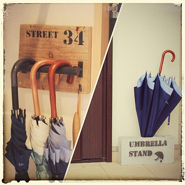 Entrance,傘立て,コンテスト参加♡,RC兵庫支部,足場板,DIY,ステンシル,細々とブログやってます sachicocoa-87daysの部屋
