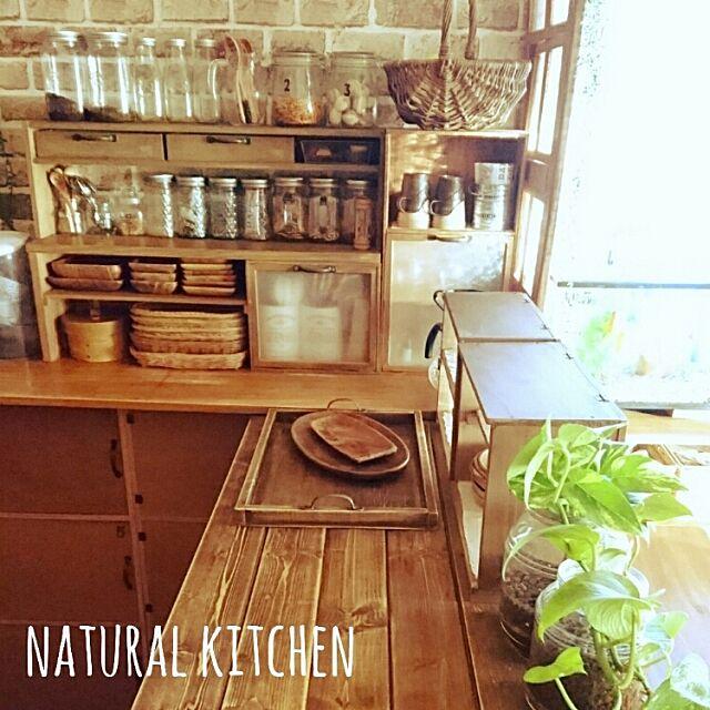 Kitchen,大掃除,手作り,アカシア食器,廃材DIY,カウンター,木が好き,ポトス,ダイソー,セリア,1×4材 Akipoohの部屋