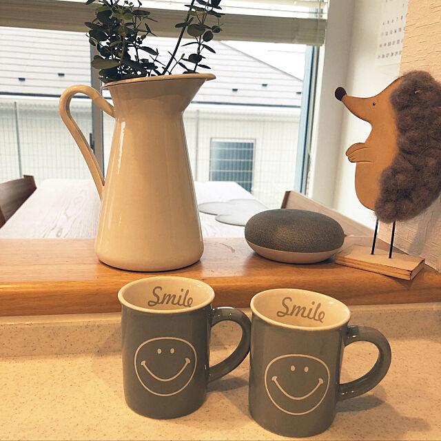 My Desk,にこちゃん◡̈⃝︎⋆︎*,マグカップ大好き,セリアの雑貨,セリア,こどものいる暮らし,注文住宅,新築一戸建て ai.a_a.a_uの部屋