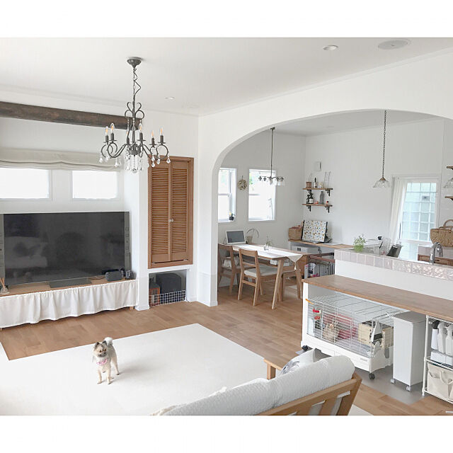 Overview,ジョイントマット,ニトリ,ペンダントライト,リビング 照明,シャンデリア,LDK usa-homeの部屋