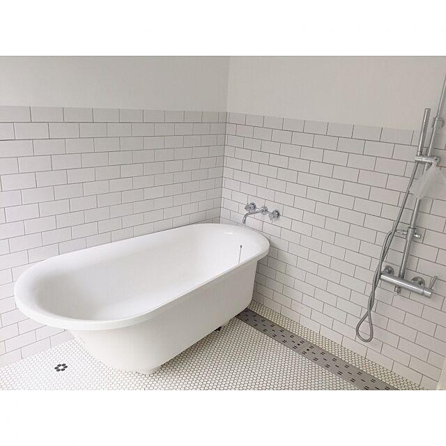 Bathroom,お風呂,タイル,造作浴室,TOTO,北欧インテリア,平屋 tsunotanの部屋