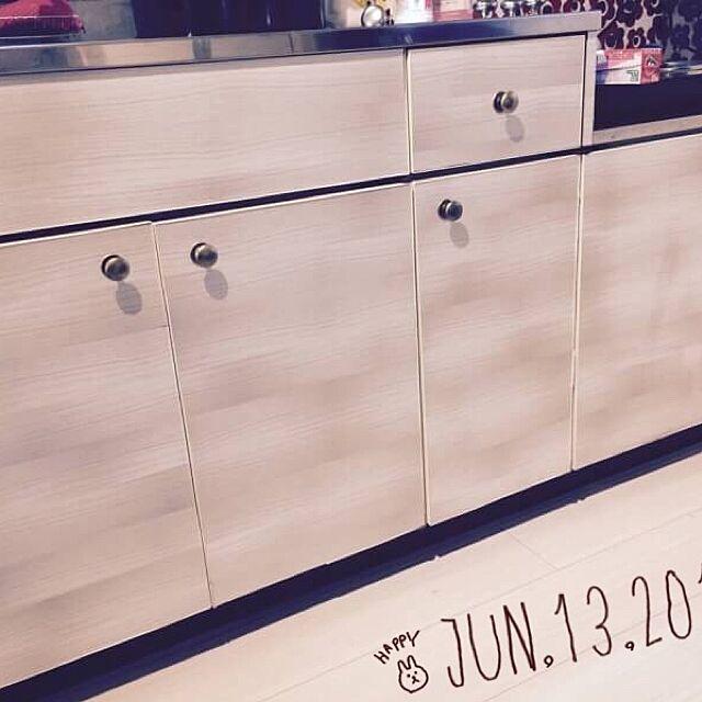 Kitchen,分かりにくいですが…,去年,手作り,DIY,100均,セリア,簡単,賃貸でも楽しく♪,安アパでもめげない Ni-Naの部屋
