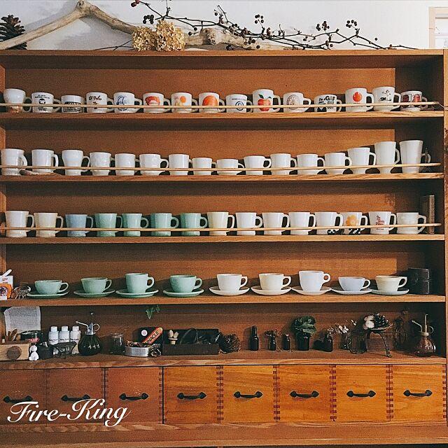 My Shelf,マグカップ,Fire-King,ファイヤーキング,ビンテージ,ドライフラワー,雑貨,アンティーク,カフェ風,RC愛知 eriの部屋