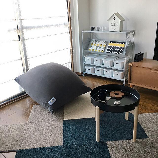 Lounge,サイドテーブル,東リ・モニター,東リファブリックフロア,タイルカーペット,東リ タイルカーペット,Yogibo,IKEA,ヨギボー atkの部屋