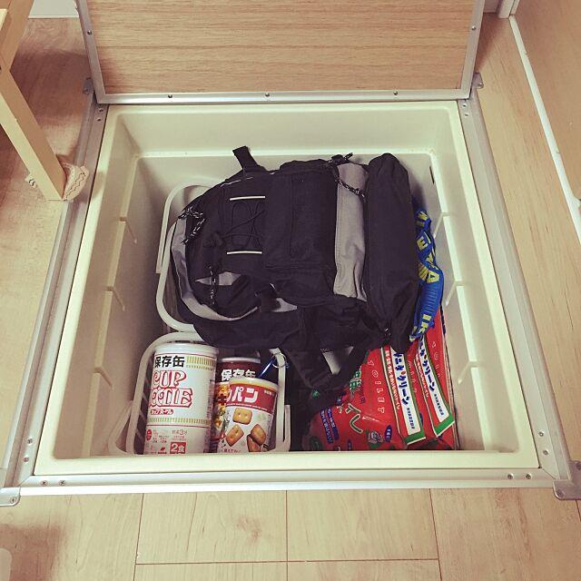 カップヌードル保存缶,防災対策,My Shelf Kochanの部屋