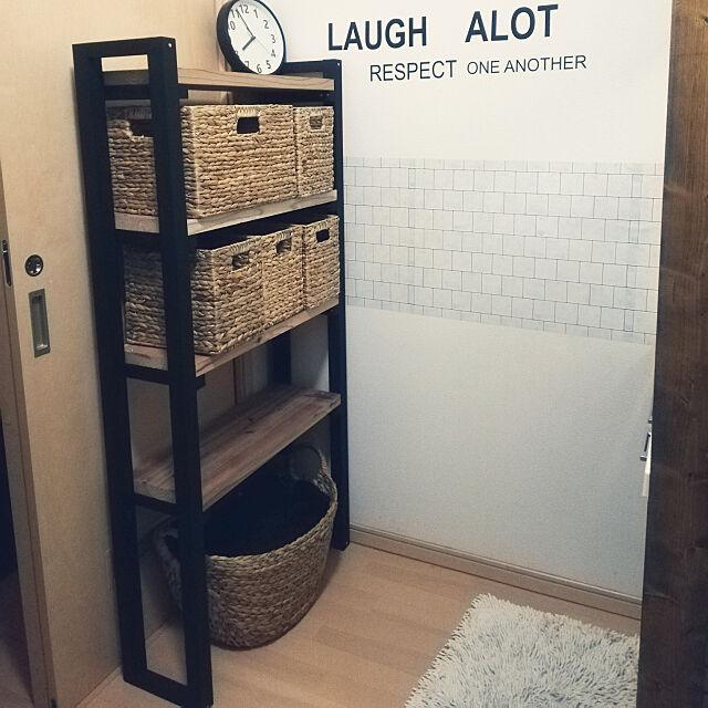 Bathroom,かご収納,いいね&フォローありがとうございます☆,セリア,棚DIY,ニトリ,ニトリかご,下着収納 remu0319の部屋