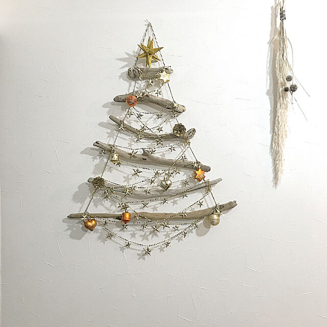 On Walls,スワッグ,ドライフラワー,築30年,流木ツリー,流木,クリスマス,クリスマスツリー,クリスマスディスプレイ 10ri5100の部屋
