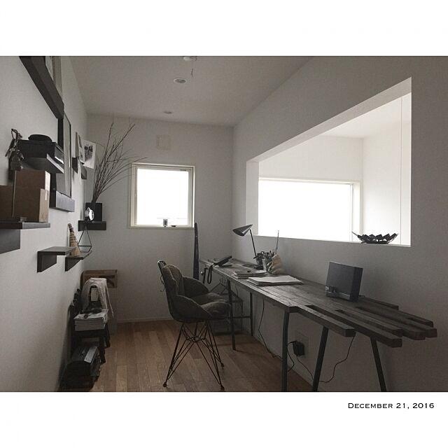 My Desk,無印良品 壁に付けられる家具,書斎スペース Hito-95の部屋