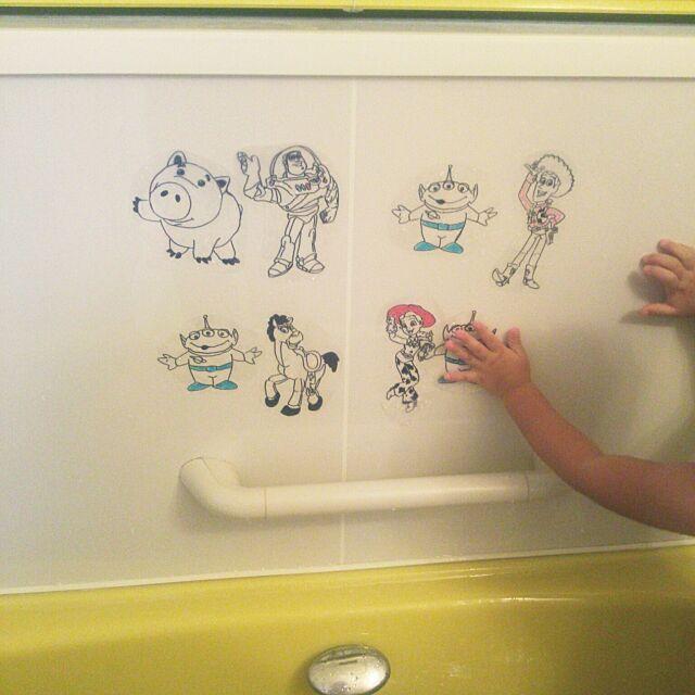 Bathroom,A4クリアファイル,手作りおもちゃ,トイストーリー serotiの部屋