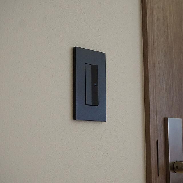 マットブラック,電気スイッチ,SO-STYLE,モノトーン,男前,Overview,パナソニックのスイッチ・コンセント MURACHANの部屋