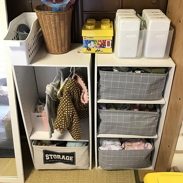 My Shelf,チェック柄,つっぱり棒,積み重ねボックス,カラーボックス収納,カラーボックス,収納ボックス,ダイソー,赤ちゃんと暮らす,こどもと暮らす,古い家,戸建て colorの部屋