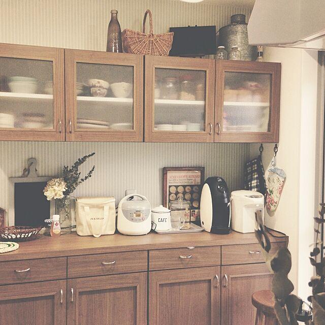 Kitchen,吊り戸棚,台所 Emiの部屋