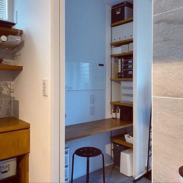 ワークデスク,無印良品,IKEA,造作棚,Overview ayuayuの部屋