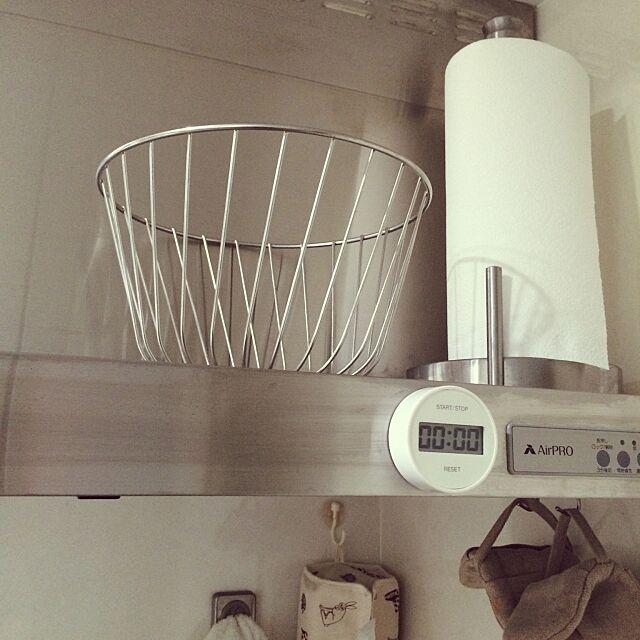Kitchen,アレッシィ,換気扇の上,キッチンペーパーホルダー,コストコ uniの部屋