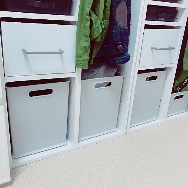 My Shelf,カラーボックス収納,カラーボックス,子どものロッカー,素敵なお家作り,スッキリ,一目惚れ,グレー,収納ボックス,ニトリ,キッズロッカー marronsnowの部屋