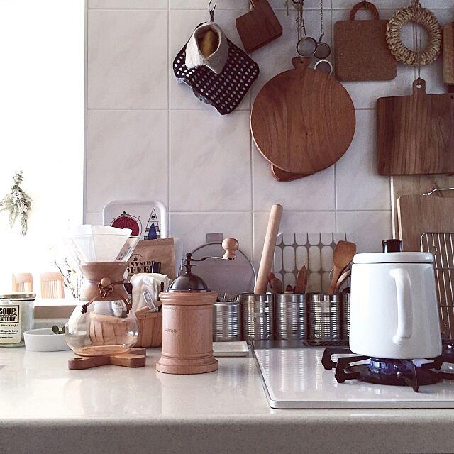 Kitchen,北欧テイスト,キッチン風景,朝時間,珈琲時間,丁寧な暮らし,小沢賢一,カッティングボード,日常,シンプルテイスト,暮らし,食卓風景,シンプルな暮らし,シンプルライフ,みどりのある暮らし ku_ra_shi_の部屋