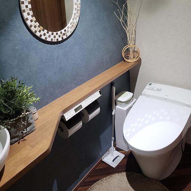 Bathroom,掃除道具,除菌,トイレ掃除,クイックル,ウイルス除去,トイレの壁,ヘリンボーン,ブルーグレーの壁,フォロワーさんに感謝♡,いつもいいねやコメありがとうございます♡,LIXILトイレ,ig→misaki.ie,アクセントクロス,グリーンのある暮らし Misakiの部屋