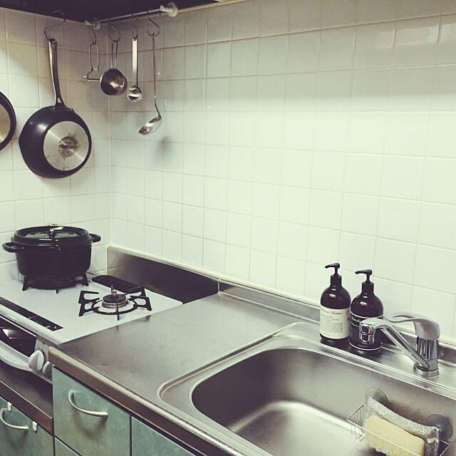 Kitchen,家事,整理整頓,STAUB,シンプルライフ,シンプルインテリア,すっきり暮らしたい,二人暮らし,掃除がしやすい,無印良品,マーチソンヒューム hana.Sの部屋