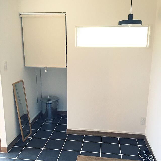 Entrance,ロールスクリーン,土間収納,雑貨,北欧,リノベーション,無印良品,凸ランプ yuikoの部屋