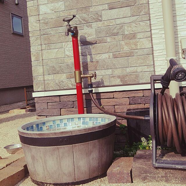 Entrance,いいね!ありがとうございます。,子どものいる暮らし,こどものいる暮らし,フォロー大歓迎♪,リフォローします!,水栓柱,立水栓,DIY,お庭いじり,旦那さんと♥ H+M+S...HappyLife...の部屋