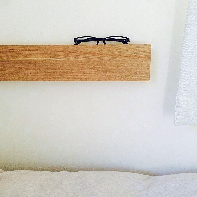 Bedroom,壁に付けられる家具,眼鏡置き,無印良品 remaの部屋