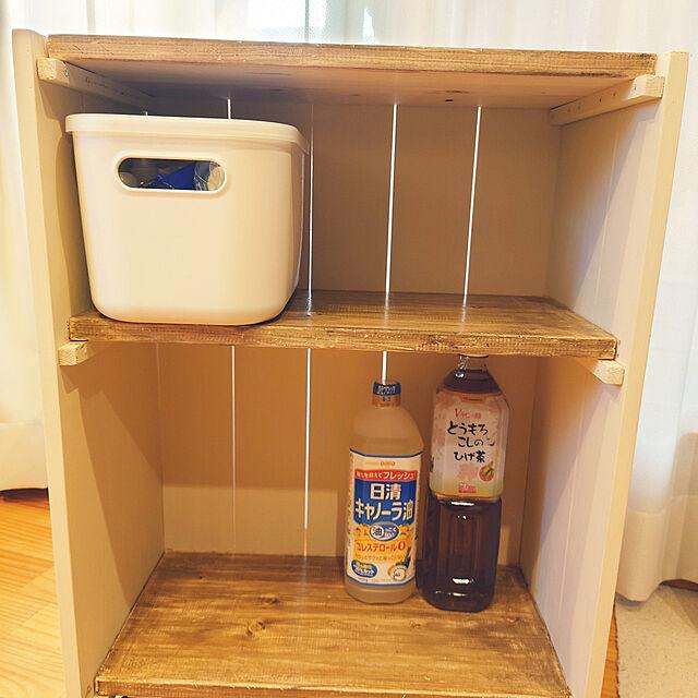 Kitchen,DIY,木工,ホムセン,ブラックアンドデッカー,無印良品,やわらかポリエチレンケース,食品ストッカー Pikakeの部屋